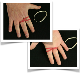 Magic elastic trick