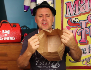 Julian Magic Paper Bag Open - Food Magic Trick - Magic Lessons #12 - Magic Tricks For Kids