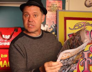 Julian Displaying Newspaper - Newspaper Magic Trick - Magic Lessons #15 - Magic Tricks For Kids