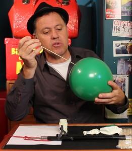 Balloon Penetration Image - Balloon Penetration Trick - Magic Lessons #24