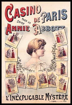 "Magician Abbott Annie Poster ""Casino de Paris"""