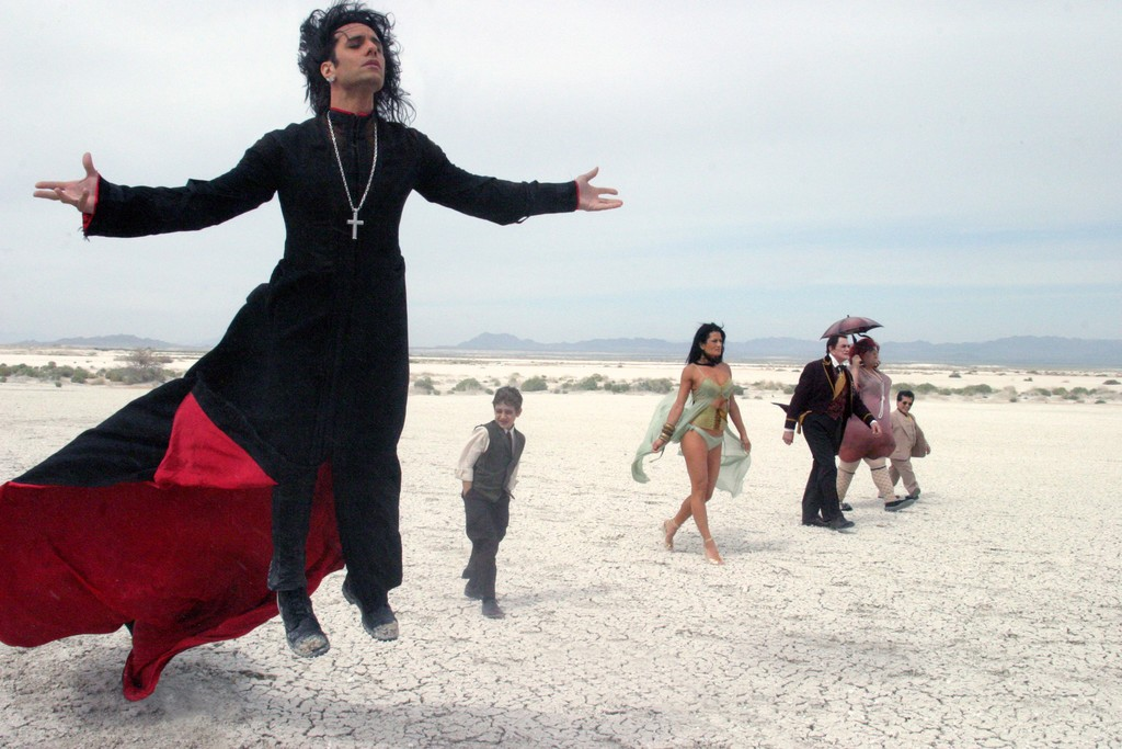 Criss Angel Levitating On a Beach