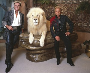 Siegfried and Roy with White Lion - Magic Tricks for Kids - History of Magic