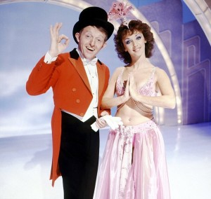 Paul Daniels and his assistant Debbie McGee