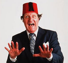 Tommy Cooper Looking Excited
