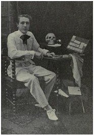 Burling Hull Sitting with a Skull