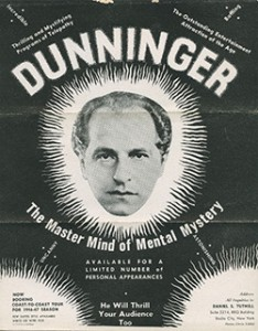 Dunninger The Master Mind of Mental Mystery