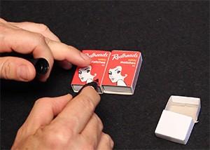Matchboxes Being Marked - Crazy Matchbox Trick