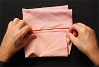 Grandma's Bra Cloth Fold