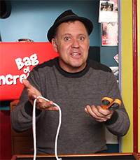 Julian with Scissors and Rope - Magic String Trick