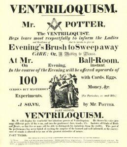 Richard Potter magician flier