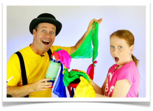 Kenneth and Kristen Kelly, founders of Magic Tricks for Kids