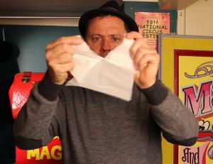 Julian Tearing Napkin - Torn and Restored Napkin - Magic Lessons #21 - Magic Tricks For Kids