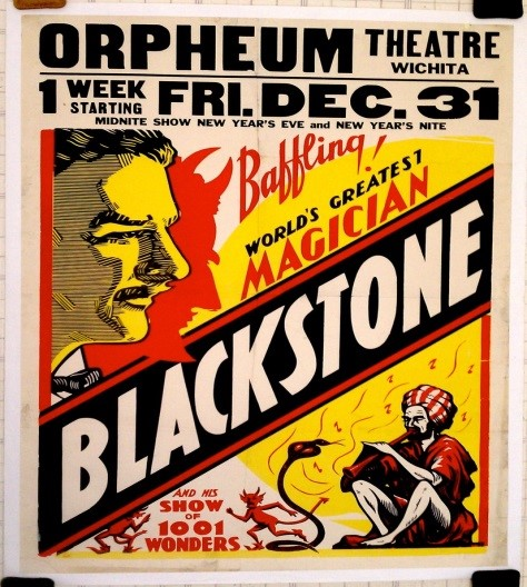 Magician Harry Blackstone Sr Poster