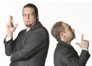 Penn and Teller Back To Back Promo Shot